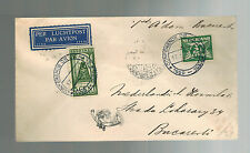 1930 Netherlands FFC First Flight Cover KLM to Bucharest Romania Dutch Consul