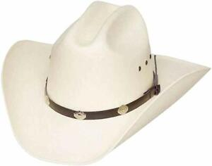 Western Express Classic Cattleman Straw Cowboy Hat With Silver Conchos
