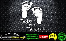 baby on board baby feat Car Window Sticker Decal