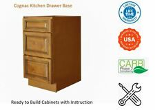 Cognac Kitchen Drawer Base Cabinet