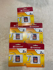 Lot of 5x Transcend 2 GB SD Card non HC, SD Memory Card 2G for old cameras
