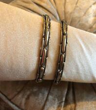 Vintage 1920s Silver Tone Lambournes Sleeve Garters Size-54 Peaky Blinders (A