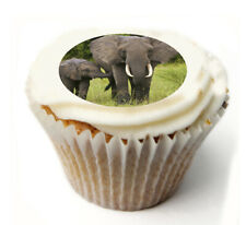 Cupcake Topper ELEPHANT personalised Rice, Icing sheet 1045