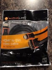 HDMI to DVI-D High Def Video Cable Male/Male 6 Foot Alphaline Gold Plated 10884