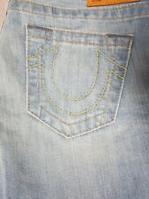 TRUE RELIGION BOBBY WOMENS VINTAGE TEXAS PLAINS WASH BOOTCUT JEANS SIZE 26 NEW