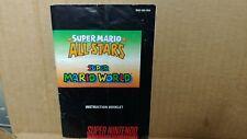 Super Mario All-Stars Super Mario World Nintendo SNES Instruction Manual Booklet