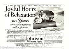 1927 JOHNSON outboard advertisement, motor boat, outboard engine, half-page