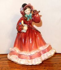 """ROYAL DOULTON """" Christmas Time """" Lady in Red Dress Figurine HN 2110 RETIRED"""