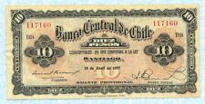 CHILE 10 Pesos 18.04.1927 F65a VF+