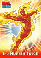 THE HUMAN TORCH / Marvel Legends (Topps 2001) BASE Trading Card #04