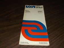 OCTOBER 1976 CANADIAN NATIONAL CP RAIL VIA RAIL CANADA SYSTEM PUBLIC TIMETABLE