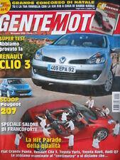 GENTE MOTORI n°11 2005 Renault Clio 3 Audi Q7 Toyota Yaris Rav4 [P43]