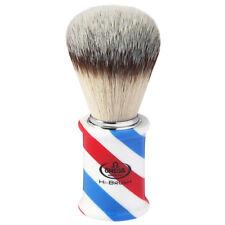 """0146735 Omega """"BARBER POLE"""" Premium Hi-BRUSH Synthetic Fiber Shave Brush"""