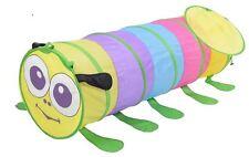 Childrens Kids Tents Caterpillar Chameleon Pop-Up Indoor Outdoor Play Tunnel