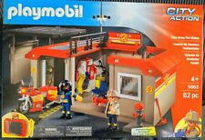 Playmobil - Take Along Fire Station Playset - 5663 -  62 Piece Set City action