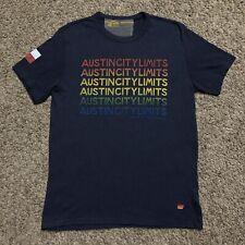 Aviator Nation Austin City Limits Music Festival T Shirt Size Medium Blue 2017