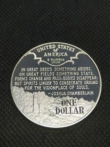 "1 Dollar 1995 S USA Silver Proof ""Civil War Battlefield"""
