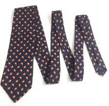 Lands' End Direct Merchant Mens 100% Silk Hand Made Long Neck Tie