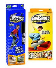 Set of Fun Slide Carpet Skates and Fun Slide Rail Ramp! As Seen On Tv!