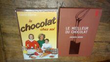 Lot de 2 livres de recettes : Le meilleur du chocolat + le chocolat chez soi