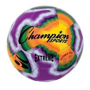 Champion Sports Extreme Soft Touch Butyl Bladder Soccer Ball, Size 5, Tie Dye