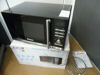 Candy CMGE23BS Mikrowelle 900W mit Grill 1000W, 23 L, schwarz, Microwave