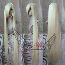 150cm femmes long blond droit Cosplay Costume Perruques de cheveux de fête