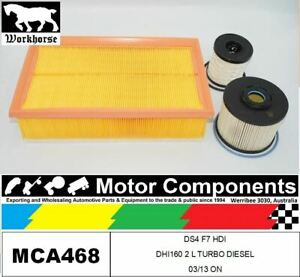 FILTER KIT for CITROEN DS4 F7 HDI DHI160 2 L TURBO DIESEL 03/13 ON