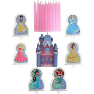 DISNEY PRINCESS CASTLE CAKE TOPPER CANDLES (17pc) ~ Birthday Party Supplies