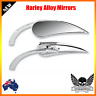Chrome claw rear view Mirror RAD II mini Teardrop Harley dyna softail vrod glide
