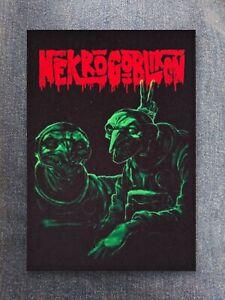 Nekrogoblikon patch sew on printed textile patch rock death metal core metalcore