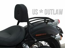 sissy bar pilote avec porte-bagage noir pour Harley Street Bob FXDB  2006-2017