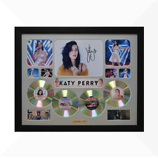 Katy Perry Signed & Framed Memorabilia - 4 CD - Silver - Limited Edition