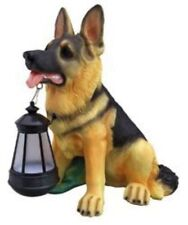SOLAR LIGHT OUTDOOR DECORATION DOG WITH AUTOMATIC LED LANTERN ORNAMENT IN MOUTH