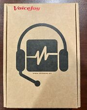 VoiceJoy Call Center Noise Cancelling Corded Binaural Headset Headphone with Mic