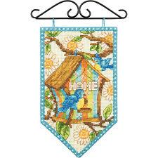 Dimensions Counted Cross Stitch Kit ~ Debbie Mumm Spring Mini Banner #72-74133