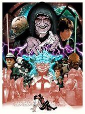 Joshua Budich Star Wars ROTJ Poster 18x24 Signed A/P Artist Proof Mondo