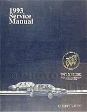 1993 Buick Century Repair Manual 93 Custom Special Ltd