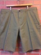 Timberland Mens Size 40 Shorts Casual Green CORDURA Fabric Flat Front