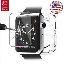 For Apple Watch Series 6 5 4 SE 3 44m 42 Soft Clear Bumper Case Screen Protector