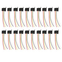 Qty 20 Car 12V 12 Volt DC 30A AMP Relay Harness Socket Pigtails 4Pin 4 Wire