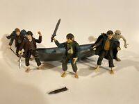 2002 LORD OF THE RINGS LOOSE LOT of all HOBBITS FRODO SAM MERRY PIPPEN Figures