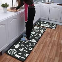 Kitchen Carpet Print Doormat Area Rug Bathroom Non-slip Floor Mat Home Decor 1PC