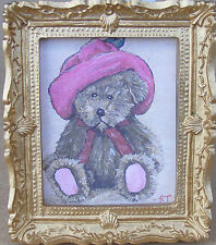 1:12 Scale Framed Picture Print Of Katie Teddy Bear Dolls House Miniature Art JD