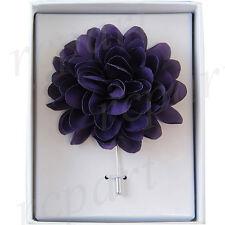 chest brooch Purple flower lapel pin New in box formal Men's Suit