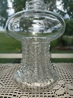 "Vintage Oil Lamp Clear Base 7.5"" tall. LAMPLIGHT FARMS Made in Austria"