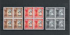 Hong Kong 1992-97 QE2 the 6th Definitive H/Values Blk of 4  Sc#651c-651e MNH