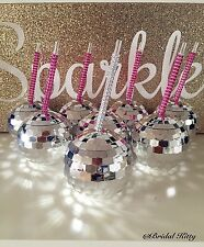 Bachelorette Party Bridesmaid Tumbler Disco Ball Club Cup Crystal Rhinestone