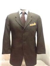 Mens GIORGIO ARMANI brown 3 button nailhead suit sz 40R