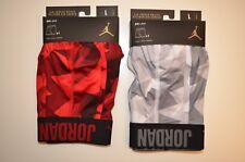 Lot of 2 Nike Air Jordan Briefs DRI-FIT Large (35-38) Mens Boxers Red & Grey